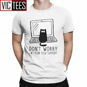 Menand039s Iand039m From Tech Support T Shirts Cats Geek Programming Engineering Software