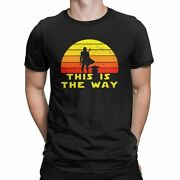 Men Star Wars The Mandalorian T Shirts This Is The Way Cotton Clothes Vintage