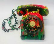 E.m. Zax Vintage Rotary Phone Hand Painted