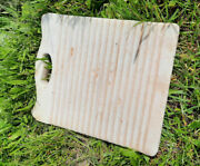 Antique White Solid Stone Washboard Collectable Primitive Folk Art