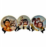 Pride Of American Indians Plates By Perillo Horse Ram Raccoon Collectors