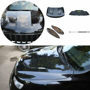 For 2011 2012-2020 Jeep Grand Cherokee Black Front Hood Vented Bonnet Cover 5pc