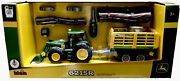 Klein 6215r Tractor With Wood And Hay Cart Trailer