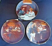 Norman Rockwell Light Campaign Set Of 3 Decorative Collector Plates With Coa