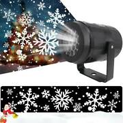 Christmas Moving Laser Projector Led Snow Snowflake Fairy Lights Xmas Lamp Party