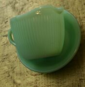 Fire King Jadeite Vintage Small Dessert Bowl And Creamer Pitcher - Lot Of 2