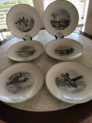 Limoges Federal Duck Stamp Plates, Set Of 6, Exclusive For Abercrombie And Fitch