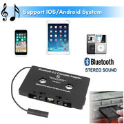Bluetooth5.0 In-car Audio Stereo Cassette Tape Adapter To Aux For Iphone Ipad Us