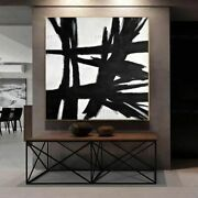 Big Size Canvas Black White Ship Wall Art Picture Abstract Gold Foil Painting