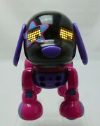 Spin Master Zoomer Zuppies Robotic Rock Star Glam Puppy Dog Pink And Black Works