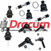 10pc Ball Joint Tierod Sway Bar Kit For 2000 2001 2002 2003 2004 Nissan Xterra