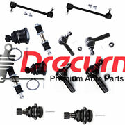 12pc Ball Joint Tierod Sway Bar Set For 2000 2001 2002 2003 2004 Nissan Xterra