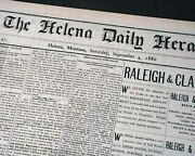 Helena Mt Lewis And Clark County Montana Territorial 1880 Old West Newspaper