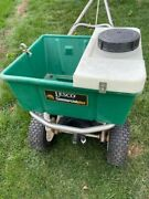 Lesco Commercial 80 Broadcast Spreader W/ Synergy Sprayer Attachment Used