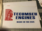 Tecumseh Engines Door Sign Red White Blue Made In The Usa 🇺🇸 Set 2