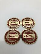 Impala Zenith Wire Wheel 2.25 Metal Chip Emblem Red And Gold