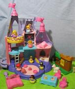 Fisher Price Little People Disney Songs Castle-all Princess Say Their Names-set