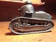 Iconic France Trench Art Ww1 Renault Ft17 Inkwell French Military 1914 1918