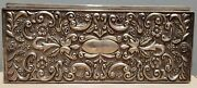 Godinger 1992 Antique Silver Plated Jewelry Box With Floral Design Heavy 9wx2h
