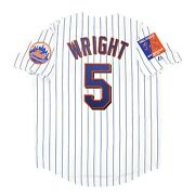 David Wright 2004 New York Mets Menand039s Home White Jersey W/ Shea 40th Patch