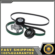 Gates Serpentine Accessory Belt Drive Component Kit For Chevy Gmc Suv Pickup