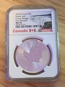 2018 5 Canada 1 Oz Silver Double Incuse Maple Leaf Ms70 Ngc 30th Anniversary