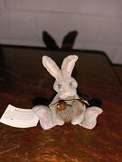 Vintage 1991 Resin Rabbit With Turkey Rusty Figurine Signed Gail Laura 3
