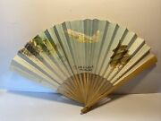 Vintage China Xinhua Airlines Advertising Souvenir Paper Folding Fan