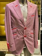 4950 Angelo Galasso Sport Coat Blazer Suit Summer Collection Size 50 / Large