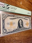 10 1922 Gold Certificate United States Of America Fr1173 Pcgs 62ppq New Graded