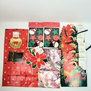 Mixed Lot Of 18 Hallmark Christmas Gift/wine Bagsboxestagsseals Dad New Nos