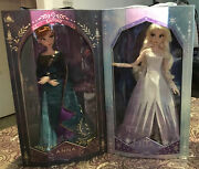 Disney Store Exclusive Frozen 2 Limited Edition Anna And Elsa Doll Set