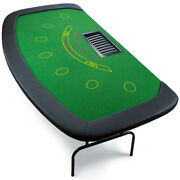 7 Player - Dealer Blackjack Table Chip Tray Included Folding Metal Legs Gift