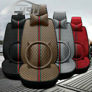 Car Seat Covers With Car Steering Wheel Cover Set Auto Full Surround Sit Cushion