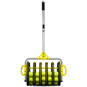 Ez Roller Tennis Ball Collector - Smooth Wheel Rolling Drum Stores Over 50 Balls