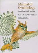 Manual Of Ornithology Avian Structure And Function Proctor 9780300076 Pb+=