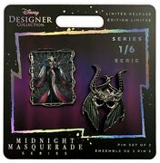 Maleficent Disney Designer Collection Pin Set Limited Release