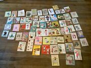 Lot 67 Vintage 50andrsquos 60andrsquos Greeting Card Lot Birthday Graduation Get Well Wishes