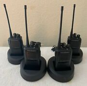 Vertex Standard Vx-261 Uhf 5w 16ch Radios And Desktop Chargers 4 Pack