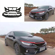 Unpainted Fit For Honda Civic Si 2016-2020 Front Skid Plate Bumper Board Guard