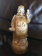 Vintage Music Box German Schafer And Vater Decanter  Plays How Dry I Am Htf