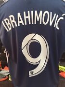 Adidas La Galaxy Away Ibrahimovic 9 Jersey 2020 Navy Authentic Size L Men Only