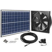 1750cfm Solar Powered Exhaust Fan Ac Power Thermostat Switch Brushless Dc Motor