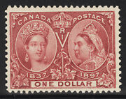Canada Postage Stamp Catalog No 61 Mint Lh