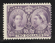 Canada Postage Stamp Catalog No 62 Mint Nh