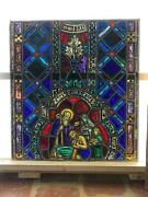 Beautiful Antique German Stained Glass Window From A Closed Church - T13