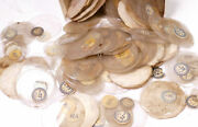 Lot Of Over 175 Antique Glass Pocket Watch Crystals Parts