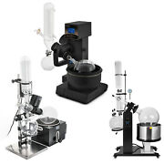 2l/5l/20l/50lrotary Evaporator W/ Hand Auto Lift Water Vacuum Pump And Chiller
