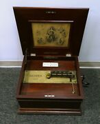 Antique Regina Music Box Tested And Working - Includes 15 1/2 Inch Discs