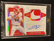 2020 National Treasures Jake Fromm Rpa Nike Swoosh Patch Auto Ssp Rc Andrsquod 1/1